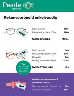Opticien Aanbiedingen in de Pearle folder in Hilversum ( Nog 2 dagen )