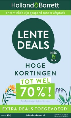 Aanbiedingen van Drogisterij & Parfumerie in the Holland & Barrett folder ( Nog 4 dagen )