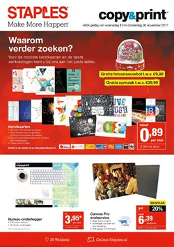 Aanbiedingen van Staples in the Amsterdam folder
