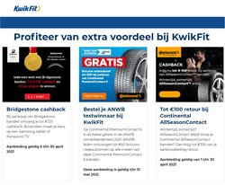 Catalogus van Kwik-fit ( Verloopt morgen )