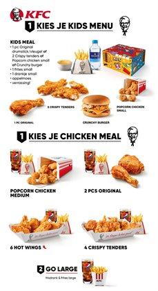 Catalogus van KFC ( Meer dan een maand )