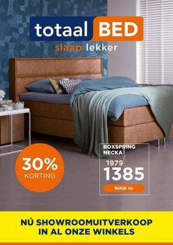Wonen & Meubels Aanbiedingen in de TotaalBED folder in Amsterdam ( Verloopt morgen )
