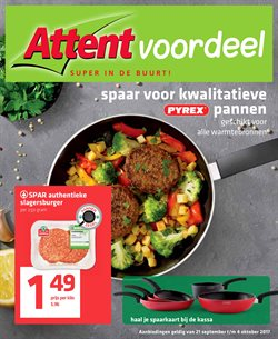 Supermarkt Aanbiedingen in de Attent folder in Uden