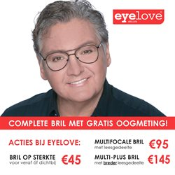 Opticien en Audicien Aanbiedingen in de Eyelove brillen folder in Veenendaal