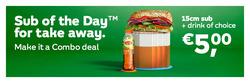 Subway kortingsbon ( Nog 11 dagen )