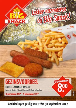 Aanbiedingen van Big Snack in the Amsterdam folder