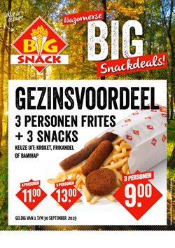 Restaurants Aanbiedingen in de Big Snack folder in Eindhoven
