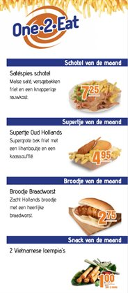 Catalogus van One 2 Eat ( Vervallen )