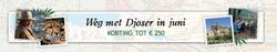 Aanbiedingen van Djoser Reizen in the Leiden folder