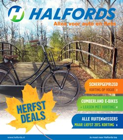 Auto en Fiets Aanbiedingen in de Halfords folder in Anloo