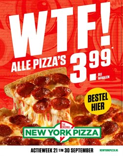 Restaurants Aanbiedingen in de New York Pizza folder in Hendrik-Ido-Ambacht