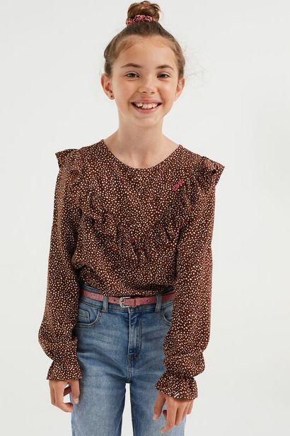Aanbieding van Meisjes blouse met stippendessin voor 20€