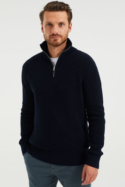 Aanbieding van Gebreide trui met rits voor 55€