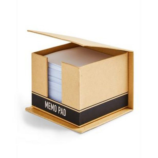 Aanbieding van Bruin memoblok van karton voor 3,5€