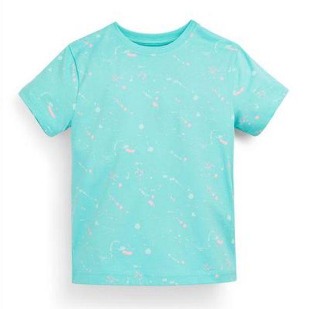 Aanbieding van Turquoise T-shirt met abstracte print voor jongens voor 2,5€