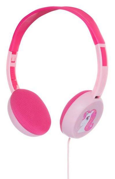 Aanbieding van Roze koptelefoon met eenhoorn voor 6€