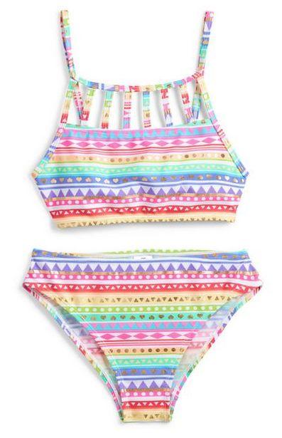 Aanbieding van Meerkleurige bikini met Azteekse print voor meisjes voor 8€