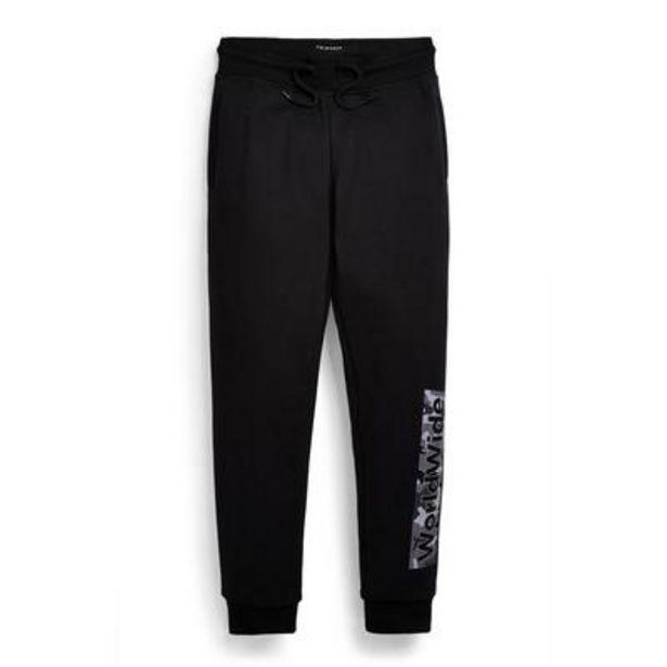 Aanbieding van Zwarte joggingbroek met print voor jongens voor 7€