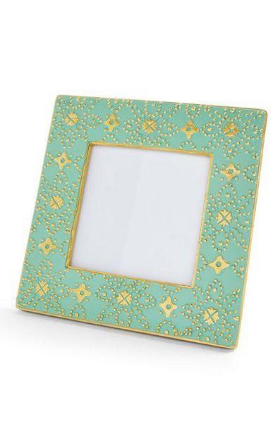 Aanbieding van Groen fotolijstje met Marokkaanse print, 10 x 10 cm voor 3€