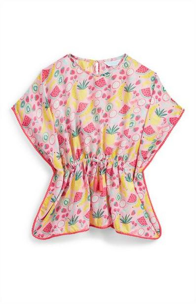 Aanbieding van Roze kaftan met print voor meisjes voor 5€