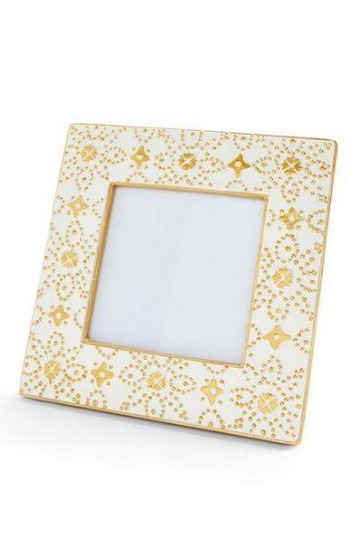 Aanbieding van Wit fotolijstje met Marokkaanse print, 10 x 10 cm voor 3€