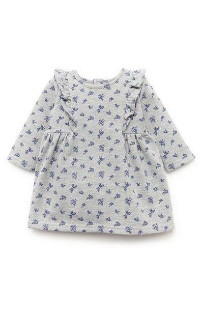 Aanbieding van Grijze jurk met patroon voor baby's (meisje) voor 8€