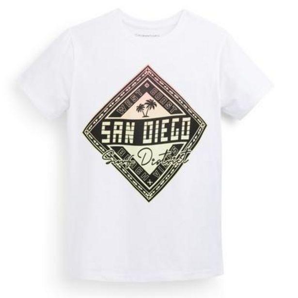 Aanbieding van Wit T-shirt met print voor jongens voor 2,5€