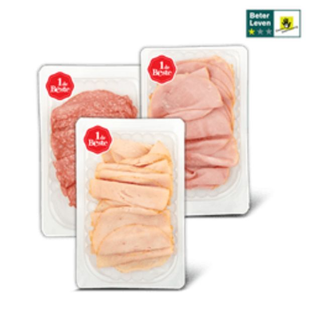 Aanbieding van 1 de Beste flinterdunne vleeswaren voor 2,99€