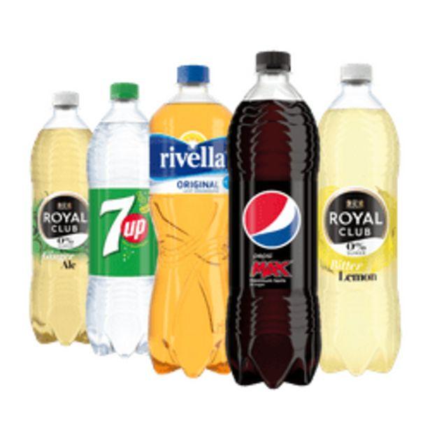 Aanbieding van Royal Club, Rivella, 7-Up of Pepsi voor 3,49€