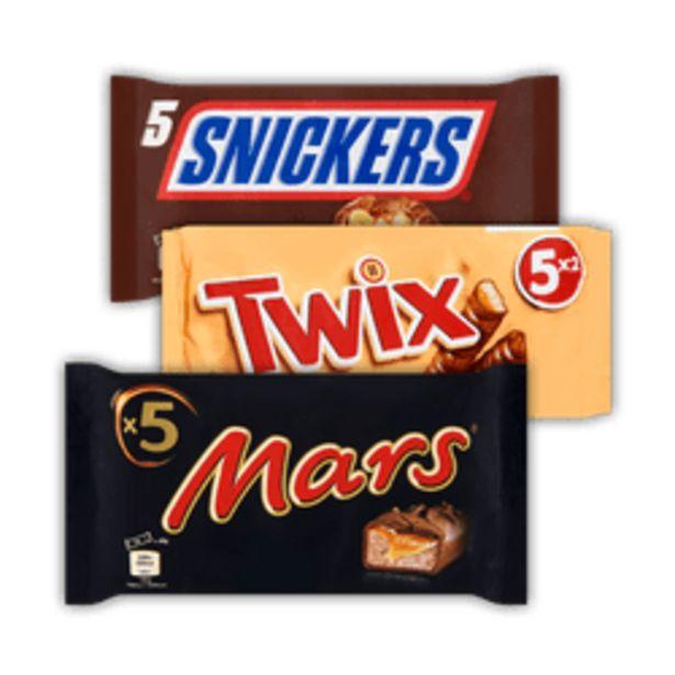 Aanbieding van Mars, Twix of Snickers voor 3,99€
