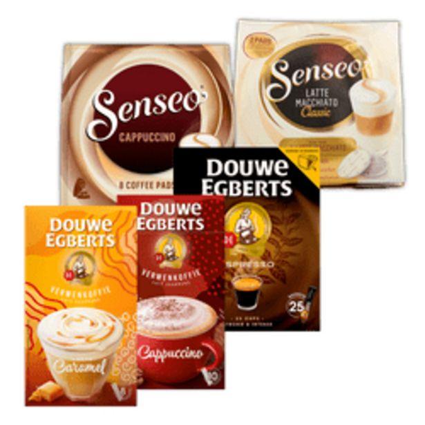 Aanbieding van Senseo milk based of Douwe Egberts oploskoffie voor 4,99€