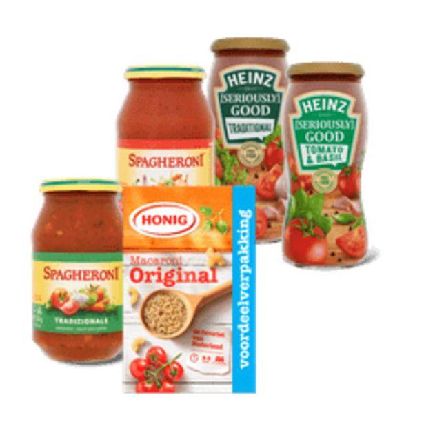 Aanbieding van Spagheroni, Heinz pastasaus of Honig pasta voor 0,99€