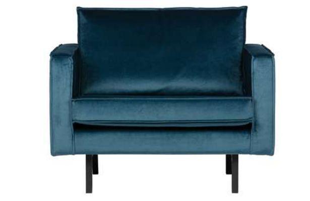 Aanbieding van BePureHome fauteuil Rodeo velvet blue voor 543,15€