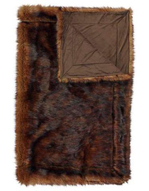 Aanbieding van ESSENZA plaid Luma bruin voor 94,98€