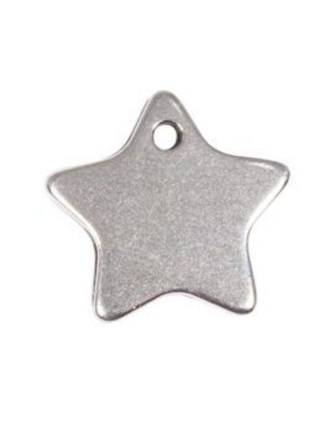 Aanbieding van Metalen hangertje ster 19x9 mm - zilverkleurig voor 2€
