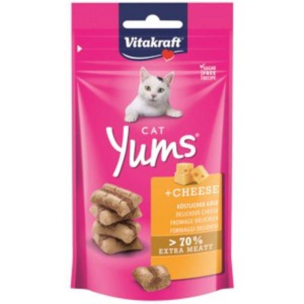 Aanbieding van Vitacraft Cat Yums Kaas 40gr voor 1,89€
