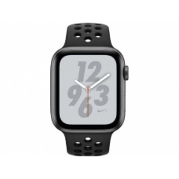 Aanbieding van APPLE Watch Series 4 Nike+ 44mm spacegrijs aluminium / antraciet-zwart sportbandje voor 367,2€