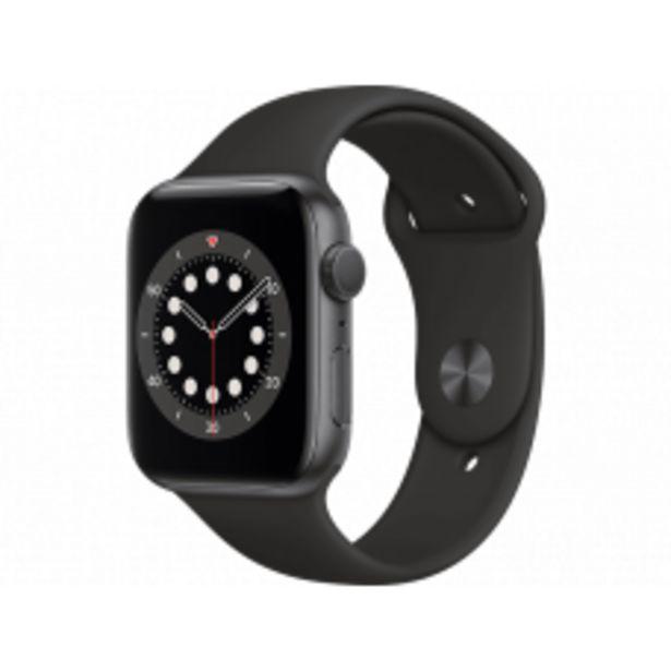 Aanbieding van APPLE Watch Series 6 44mm spacegrijs aluminium / zwarte sportband voor 390,15€