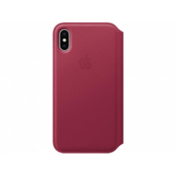 Aanbieding van APPLE Leather Folio Case iPhone X Rood voor 55€