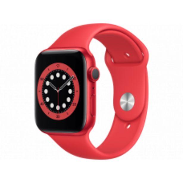 Aanbieding van APPLE Watch Series 6 44mm (PRODUCT)RED rood aluminium / rode sportband voor 395,1€