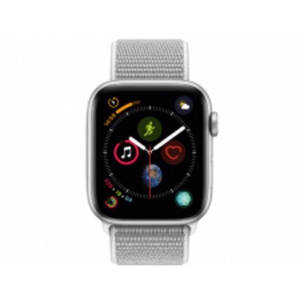 Aanbieding van APPLE Watch Series 4 44mm zilver aluminium / seashell sportloop voor 344,25€