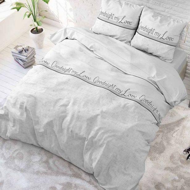 Aanbieding van Goodnight My Love Wit Dekbedovertrek 240x220 voor 30,95€