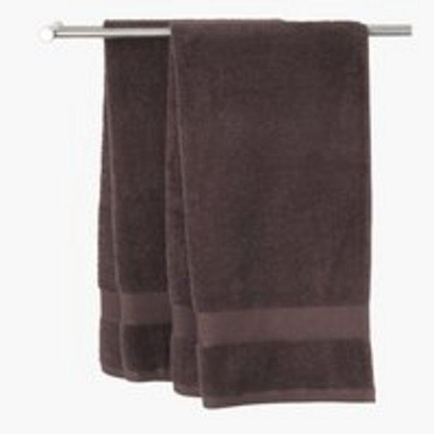 Aanbieding van Handdoek KARLSTAD 50x100 bruin voor 2,25€