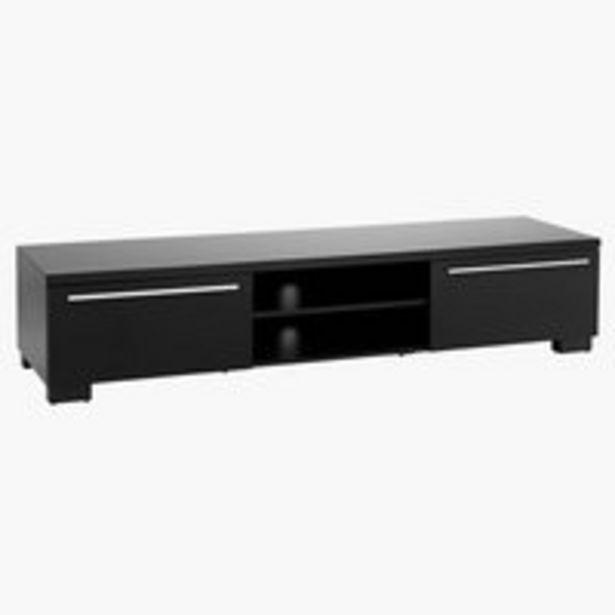 Aanbieding van TV-meubel AAKIRKEBY 2 la zwart hoogglans voor 269€