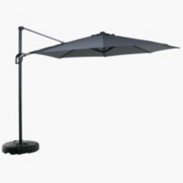 Aanbieding van Zwevende parasol TRONDHEIM Ø300 grijs voor 150€