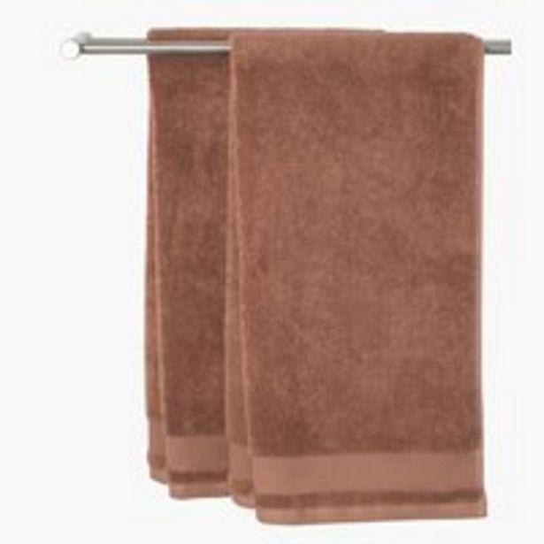 Aanbieding van Handdoek NORA 50x100 licht bruin voor 5€