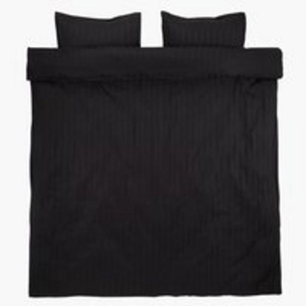 Aanbieding van Dekbedovertrek NELL satijn 240x220 zwart voor 20€