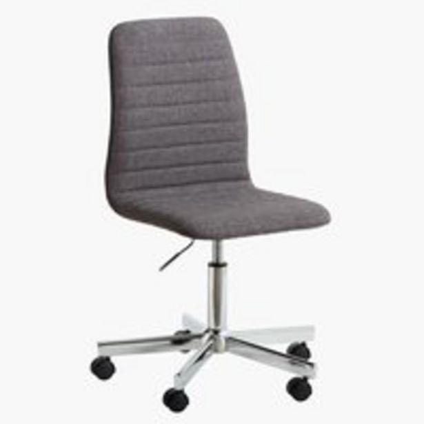 Aanbieding van Bureaustoel ABILDHOLT d.grijs/chroom voor 60€