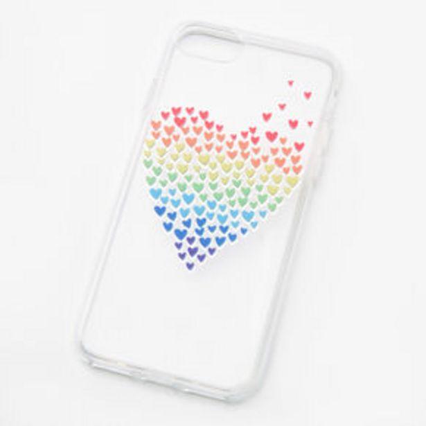 Aanbieding van Rainbow Hearts Clear Phone Case - Fits iPhone® 6/7/8/SE voor 2,25€