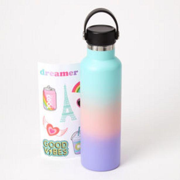Aanbieding van Pastel Ombre Sticker Water Bottle voor 12€